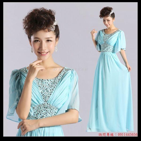 (45 Design) 訂做款式7天到貨  新款女神系列新娘伴娘禮服晚禮服敬酒服姐妹服又肩帶袖
