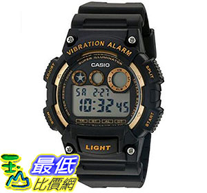 [美國直購] 手錶 Casio Men s  Quartz Stainless Steel and Resin Automatic Watch Color:Black W-735H-1A2VCF