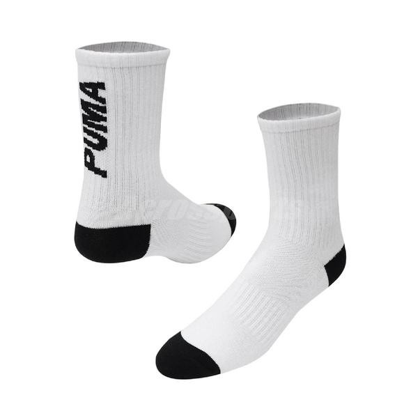 Puma 襪子 Classic Sock 男女 黑 台灣製 單雙入 中筒襪 後跟logo 彪馬【ACS】 BB1308-03