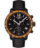 TISSOT 天梭 T-Sport Quickster 競速運動計時手錶-黑x橘框/42mm T0954173605701