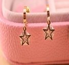 五角星锆石耳釘