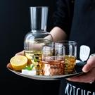 川島屋珠光冰凌玫瑰金玻璃冷水壺耐高溫茶壺涼水壺果汁壺水杯套裝