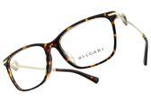 BVLGARI 光學眼鏡 BG4166BF 504 (琥珀棕-金) 方框水鑽設計款 平光鏡框 # 金橘眼鏡