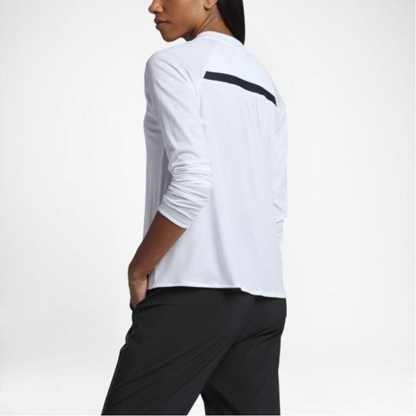 Nike Sportswear Bonded 女裝 上衣 長袖 針織 白 【運動世界】 805198-100