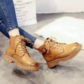 馬丁靴女英倫風春秋新款原宿靴子女單靴短靴 萬客居