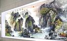 巨幅山水國畫 聚寶盆風水靠山壁掛裝飾 八尺 已裝裱