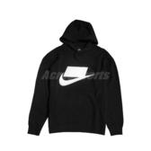 Nike 長袖T恤 NSW French Terry Pullover Hoodie 黑 白 男款 帽T 運動休閒 【PUMP306】 BV4541-010