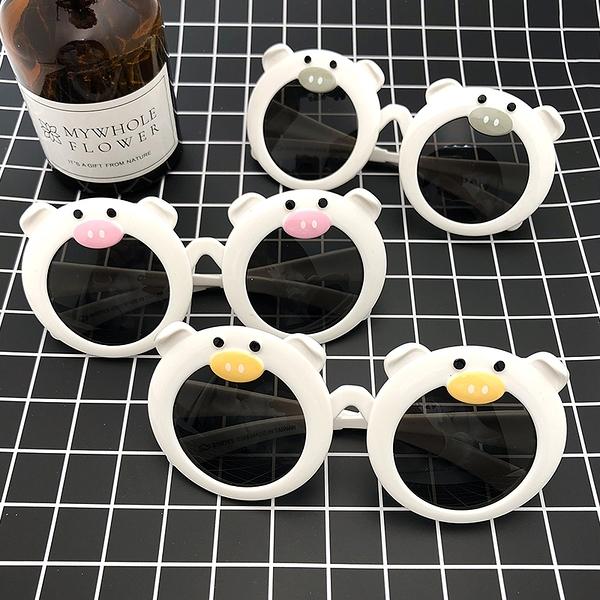 兒童墨鏡豬年豬造型太陽眼鏡親子眼鏡2019豬年新款抗UV400檢驗合格