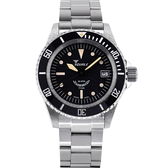 SQUALE 鯊魚錶 1545潛水機械錶-黑x銀/40mm 1545-ORIG