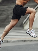 運動短褲 男跑步男士健身速干休閒五分夏季寬鬆訓練中褲 中大尺碼籃球褲  快速出貨