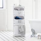 洗衣籃 收納籃 收納推車【F0077】Kira三層收納髒衣籃(附輪)ac 收納專科