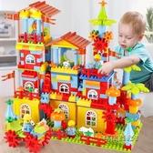 積木拼裝益智玩具兒童大號顆粒塑料創意玩具開發智力男女孩1-6歲「時尚彩虹屋」