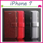 Apple iPhone7 4.7吋 Plus 5.5吋 瘋馬紋手機套 簡約商務皮套 支架保護套 磁扣保護殼 側翻手機殼