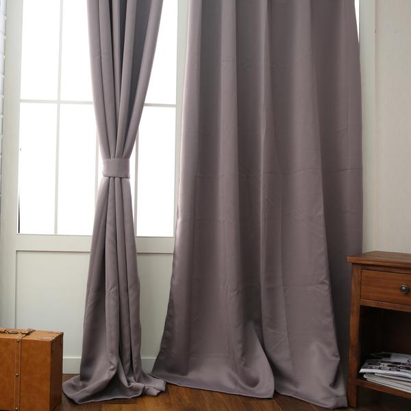 【雙11暖身全館3折起】Pure純色落地簾165x240-紫藕-生活工場