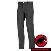 【MAMMUT 長毛象】男 Runbold Zip 褲管可拆式長褲 00150『幻影黑』1022-00500 休閒 釣魚褲 登山 運動褲