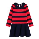『小鱷魚童裝』學院風條紋針織洋裝(08號~16號)536350