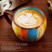馬克杯 馬克杯大容量創意復古早餐杯子燕麥杯陶瓷杯子牛奶咖啡杯帶蓋帶勺 【限時88折】