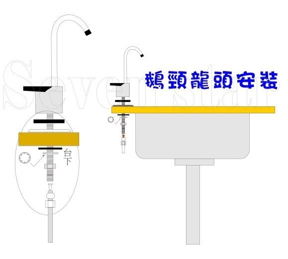 【七星淨水】304白鐵鵝頸龍頭安裝管材配件.淨水器.魚缸濾水.電解水機.飲水機.貨號:B1962