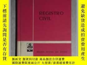 二手書博民逛書店西班牙語原版罕見Registro civil (Textos L