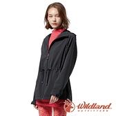 【wildland 荒野】女 三層竹炭膜防風連帽外套『黑色』0A82917 戶外 休閒 運動 露營 登山 騎車