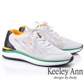 2019春夏_Keeley Ann輕運動潮流 撞色疊層個性休閒鞋(白色) -Ann系列