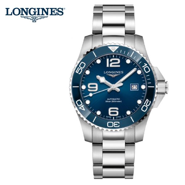 LONGINES 浪鬼深海征服者 藍陶瓷框 潛水機械錶錶 藍水鬼43mm/ L37824966