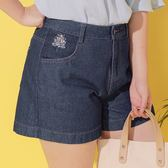 Poly Lulu 清新小花刺繡牛仔短褲-深藍【96210023】