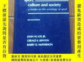 二手書博民逛書店Sport,罕見culture and society: a r