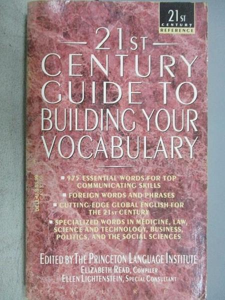 【書寶二手書T2/原文小說_MIN】21st Century Guide to Building Your Vocabu