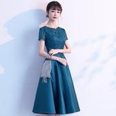 晚禮服女平時可穿高端大氣優雅顯瘦氣質高貴宴會連衣裙現代中長款 全館免運 快速出貨