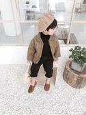 男童冬裝外套韓版寶寶羊羔毛上衣兒童加厚夾克衫潮 深藏blue