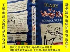 二手書博民逛書店Diary罕見of a Wimpy Kid :RODRICK RULES:懦弱的孩子日記:羅德裏克規則 Y20