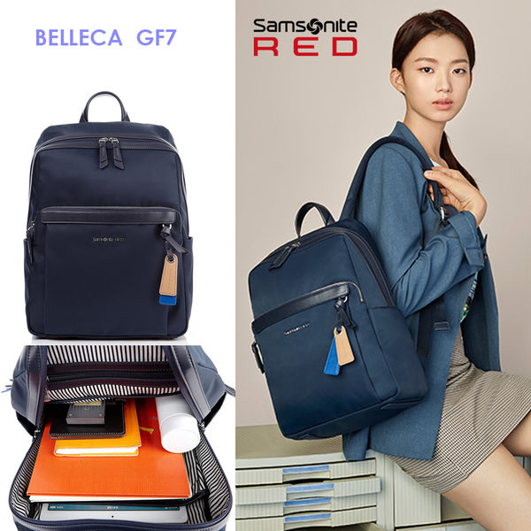 新秀麗 Samsonite RED【BELLECA GF7】輕商務14吋筆電後背包 背後隱藏口袋 歡迎詢問 可插掛 廣告款