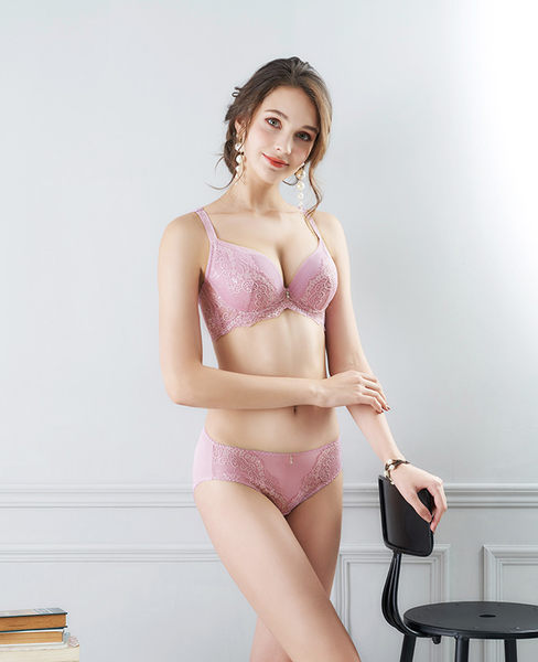 EASY SHOP-花氛宣言 美背款B-E罩內衣(醉戀粉)