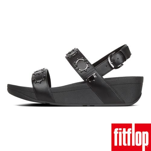 【FitFlop】LOTTIE CRESCENT STUD BACK-STRAP SANDALS(黑色)歡慶10周年!限時回饋66折