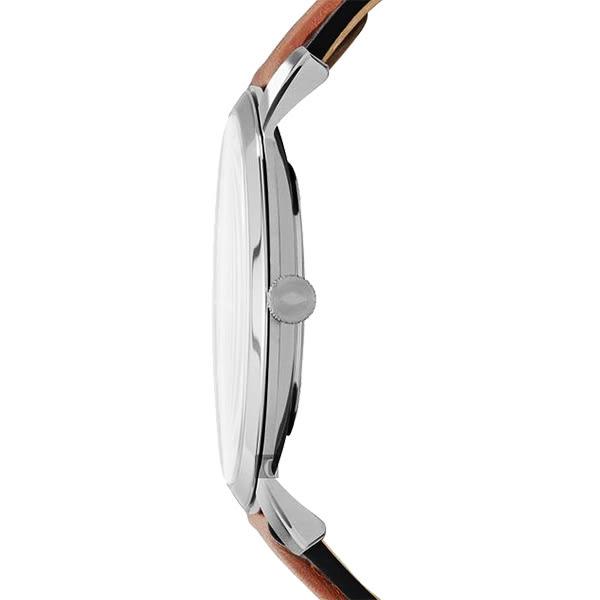 FOSSIL Minimalist 薄型簡約手錶-藍x咖啡/44mm FS5304