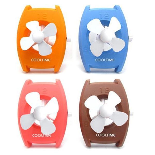 里和Riho 時尚手錶風扇 USB風扇 隨身風扇 行動電源 電池通用 消暑好用