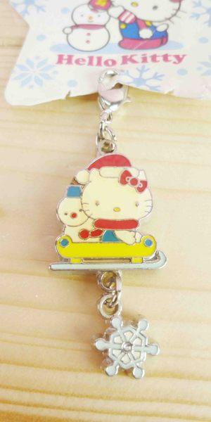 【震撼精品百貨】Hello Kitty 凱蒂貓~KITTY吊飾拉扣-聖誕系列-雪撬