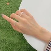 戒指 簡約ins風時尚個性珍珠戒指女網紅冷淡風小眾設計指環食指戒子