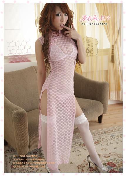 旗袍 尤物夜上海蕾絲開高叉長旗袍 角色扮演- 愛衣朵拉