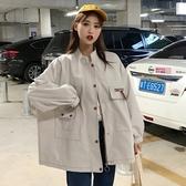 春秋季新款韓版bf原宿休閒寬鬆百搭棒球服工裝外套女學生夾克