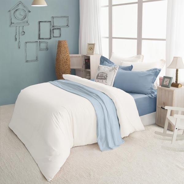 絲光精梳棉 單人4件組(床包+被套+枕套) 純粹系列-一朵雲 BUNNY LIFE