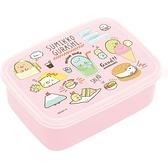 小禮堂 角落生物 日本製 微波保鮮盒 600ml (粉食物款) 4974413-70050