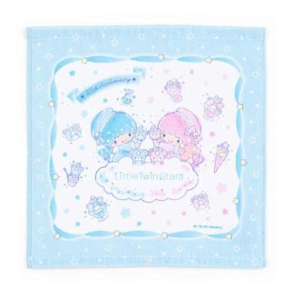 小禮堂 雙子星 純棉割絨短毛巾 純棉毛巾 方形毛巾 34x35cm  (藍 45週年) 4550337-78691
