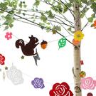 [韓風童品] 松鼠款派對裝飾 戶外露營裝飾 節慶佈置 生日派對場景布置 兒童房佈置