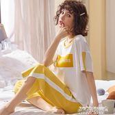 夏季新款純棉睡衣套裝女甜美短袖七分褲家居服兩件套        傑克型男館