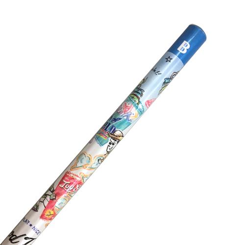 KAMIO 日本製木質鉛筆 B 迪士尼 玩具總動員 朋友 餅乾袋子 藍白