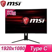 【南紡購物中心】MSI 微星 Optix MAG322CR 32型曲面電競寬螢幕