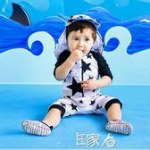 兒童泳衣男童五角星連體平角游泳衣