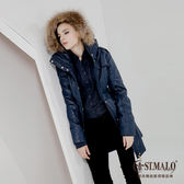 【ST.MALO】歐系蠟棉羊駝長大衣B-1457WJB-丈青